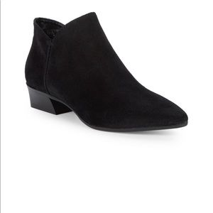 Aquatalia black suede ankle boot size 7 new